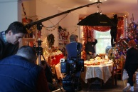 BBC Christmas trail. Behind the scenes