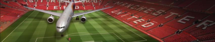 Campaign for world partners Aeroflot and Manchester United 5:1 aspect ratio