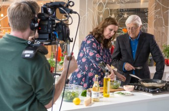 Sir Michael with Angela Hartnett