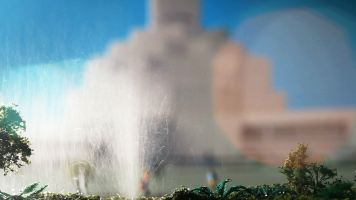Model with water and flare