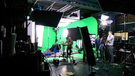 BTS as we record the Hoff pieces to camera on greenscreen