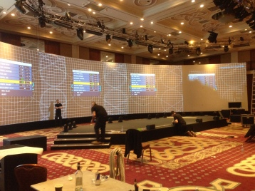 5 Projectors were lined up
