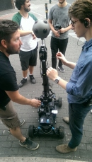 This is a great stabilised remote dolly for extended tracking shots
