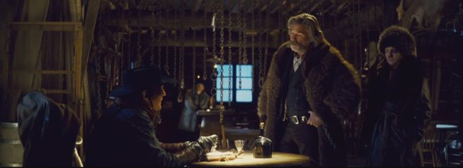 This is a frame grab from Robert Richardson's work on The Hateful Eight